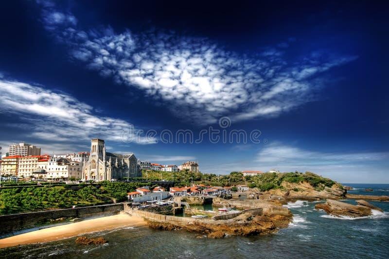 Download Biarritz Harbor stock photo. Image of cloud, wave, summer - 12569540