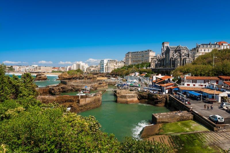 Biarritz, kościół i altana, Francja zdjęcia royalty free