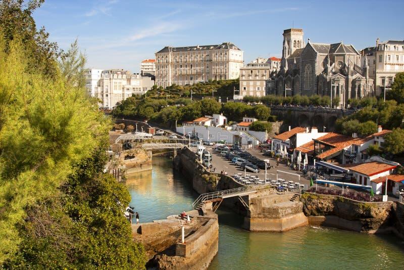 Biarritz, kust van Frankrijk royalty-vrije stock foto's