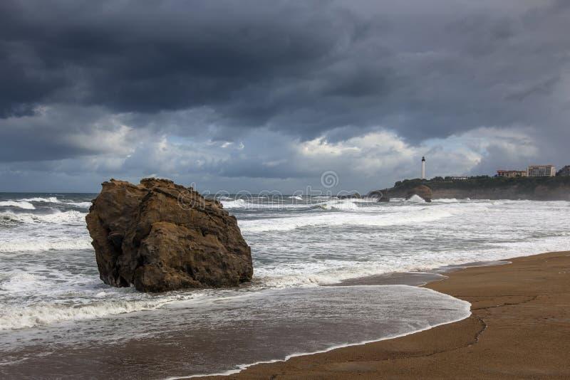 biarritz latarnia morska obraz royalty free