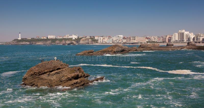 biarritz morze fotografia royalty free
