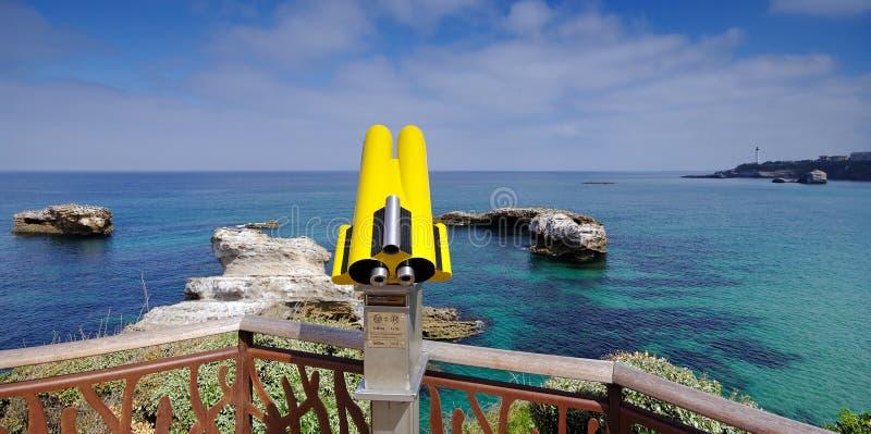 Biarritz coast royalty free stock photos