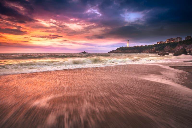 Biarritz plaża Miramar obrazy stock