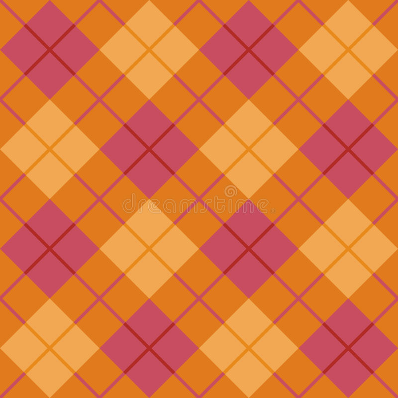 Bias Plaid In Orange And Pink Royalty Free Stock Photography
