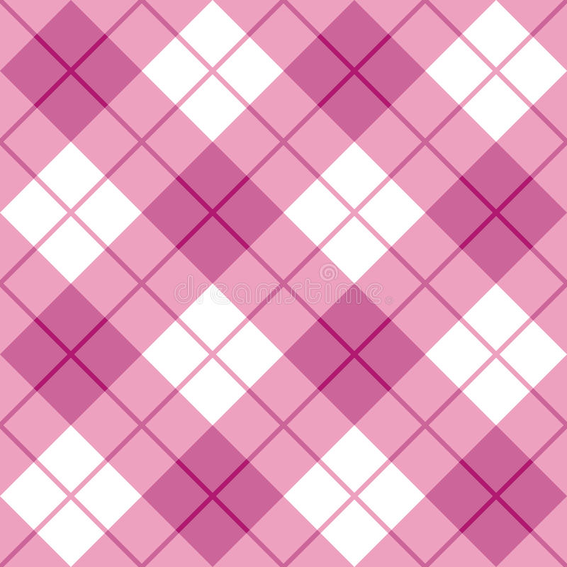 Download Bias Plaid in Pink stock vector. Image of seamless, checkerboard - 27236296