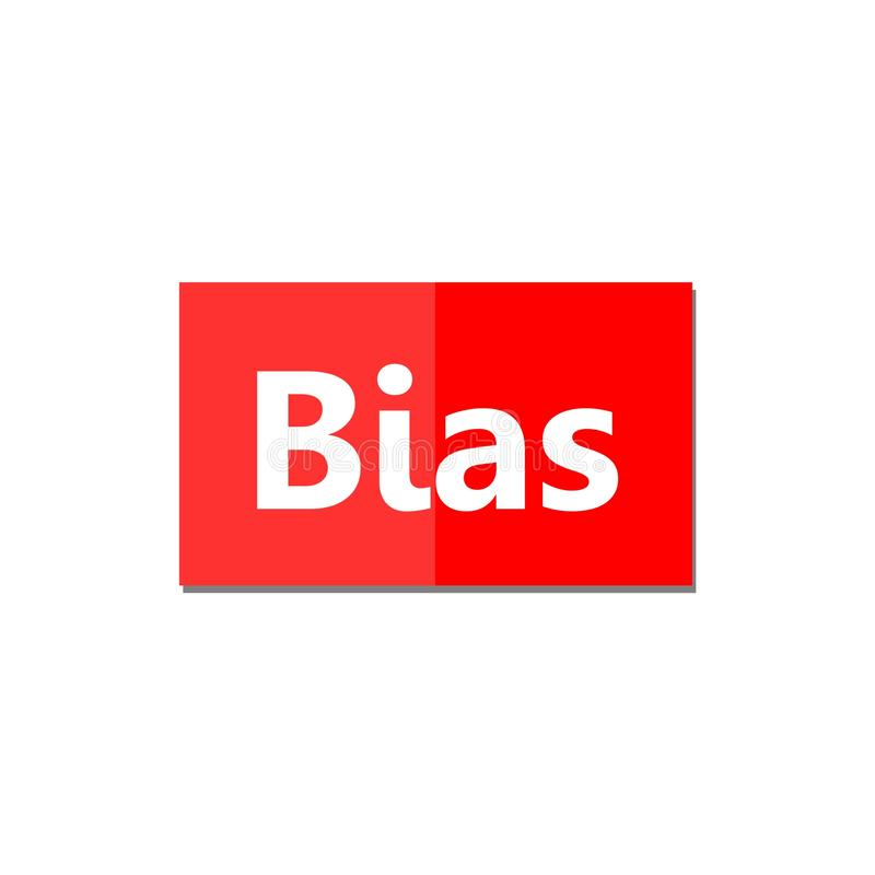 Bias sign or icon. On white background stock illustration