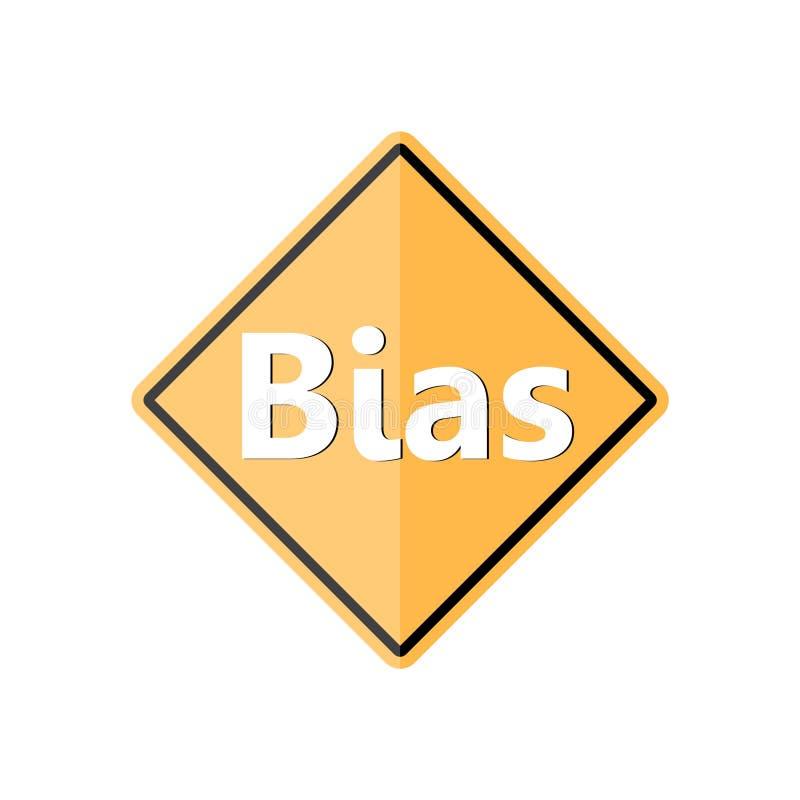 Bias sign or icon. On white background royalty free illustration