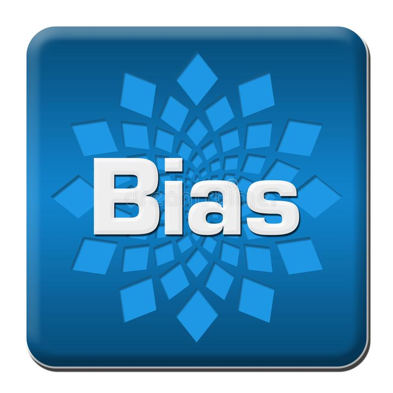 Bias Blue Rounded Square With Element. Bias text written over blue background royalty free illustration