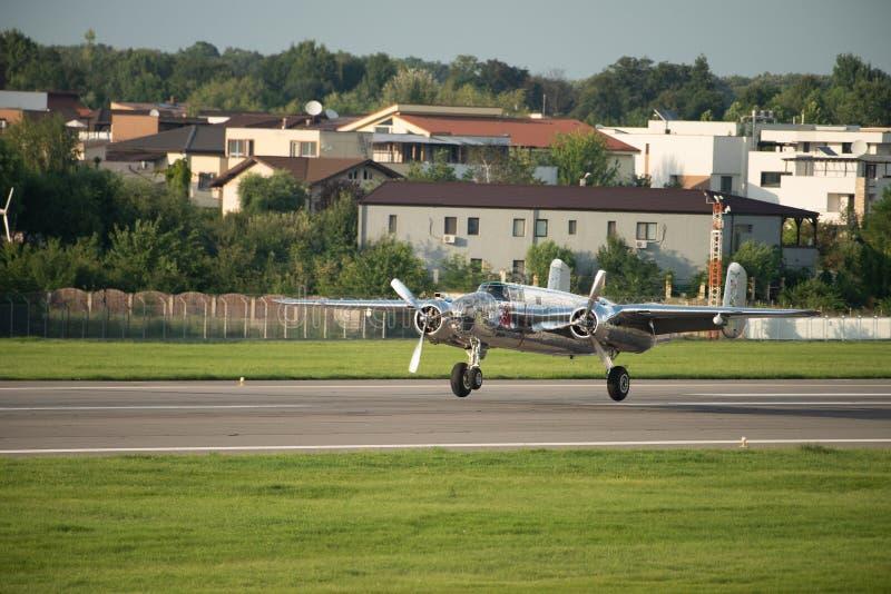 BIAS toont de internationale lucht van Boekarest, NOORDAMERIKAANS B-25J vliegend de stierenteam van ` MITCHELL ` royalty-vrije stock fotografie