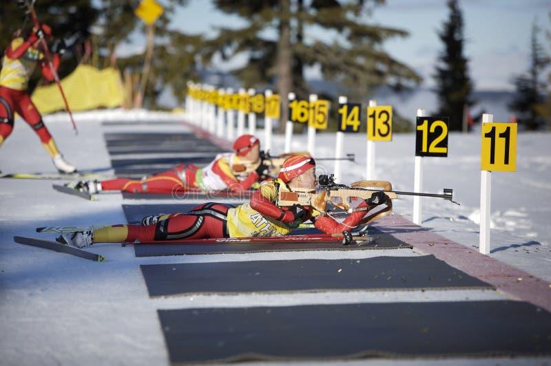 Biathlon foto de stock royalty free