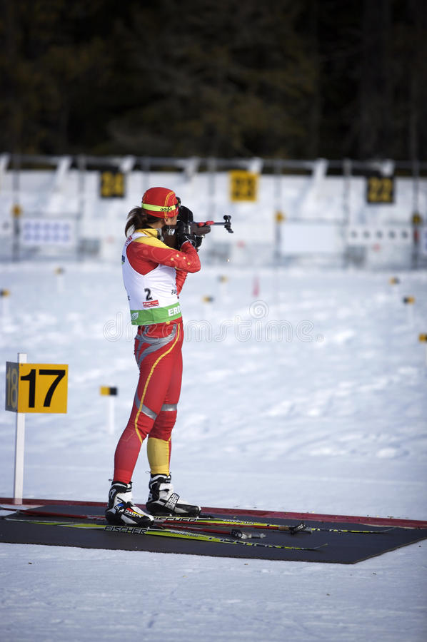 Download Biathlon editorial stock photo. Image of compete, shoot - 12957488