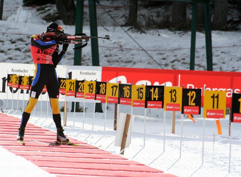 biathlon royaltyfri foto