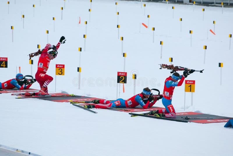 Biathlon στοκ φωτογραφία με δικαίωμα ελεύθερης χρήσης