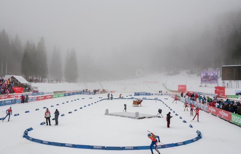 Biathlon photographie stock