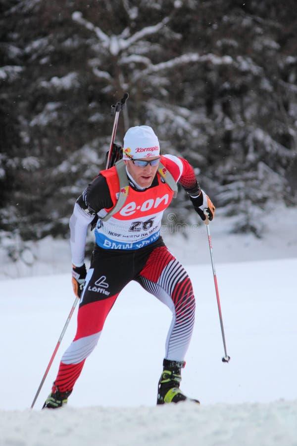 Biathlon - Eder Simon arkivbilder