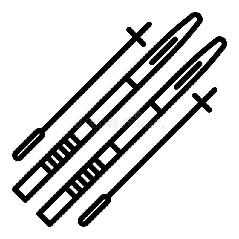 Biathlon equipment icon, outline style. Biathlon equipment icon. Outline biathlon equipment vector icon for web design isolated on white background vector illustration