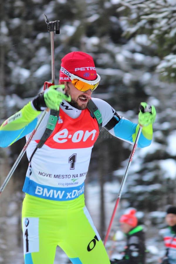 Biathlon - Fak Jakov royaltyfria bilder