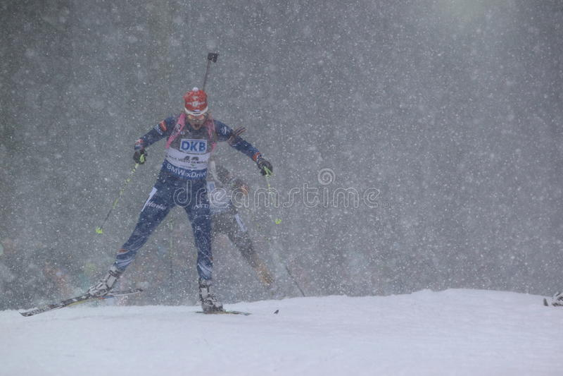 Biathlon i snö - Barbora Tomesova fotografering för bildbyråer