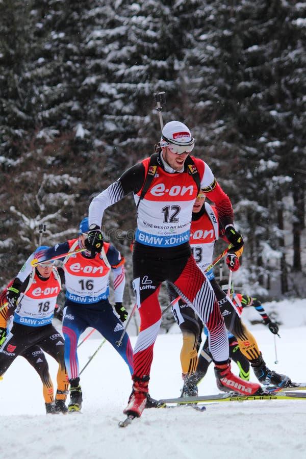 Biathlon - Landertinger Dominik royaltyfri fotografi