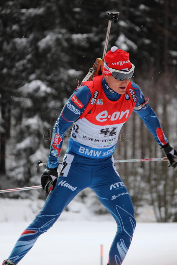 Biathlon - Moravec Ondrej arkivfoto