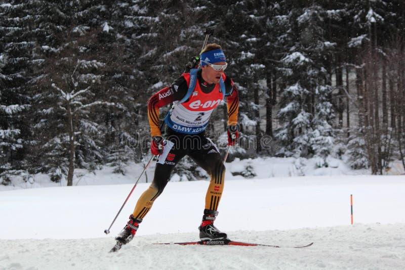 Biathlon - Schempp Simon royaltyfria bilder