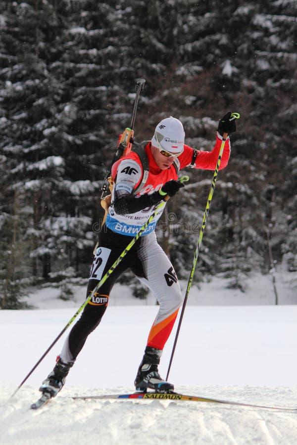 Biathlon - Szczurek Lukasz royaltyfri foto
