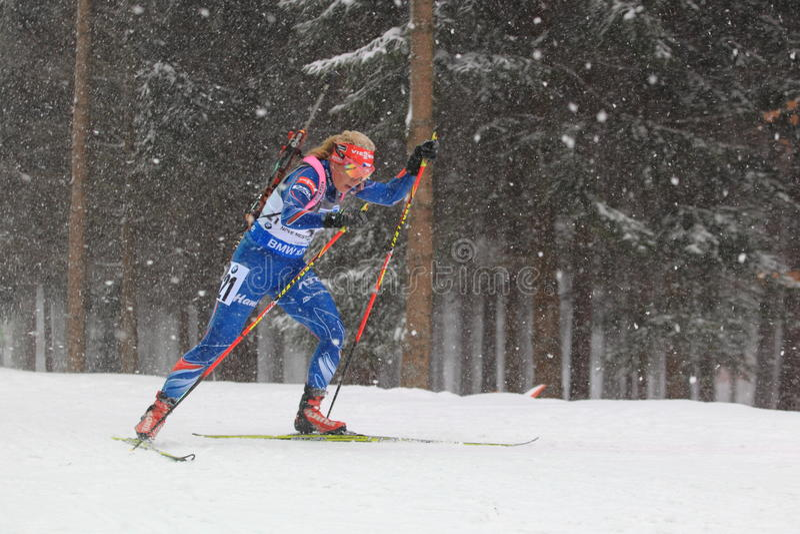 Biathlonmiss - Gabriela Soukalova arkivfoto