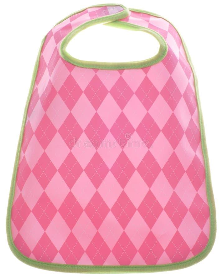 Bib cor-de-rosa do bebé de Argyle imagem de stock royalty free