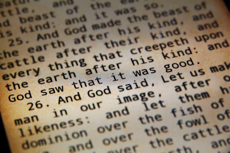 Bibbia santa in android fotografia stock libera da diritti