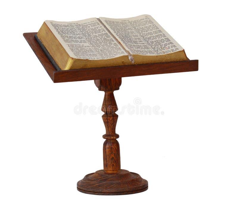 Bibbia sul basamento fotografie stock