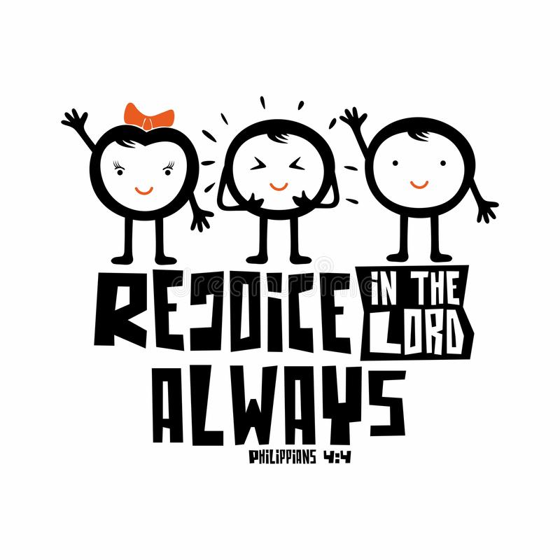 Bibbia tipografica Rallegri in Lord Always royalty illustrazione gratis