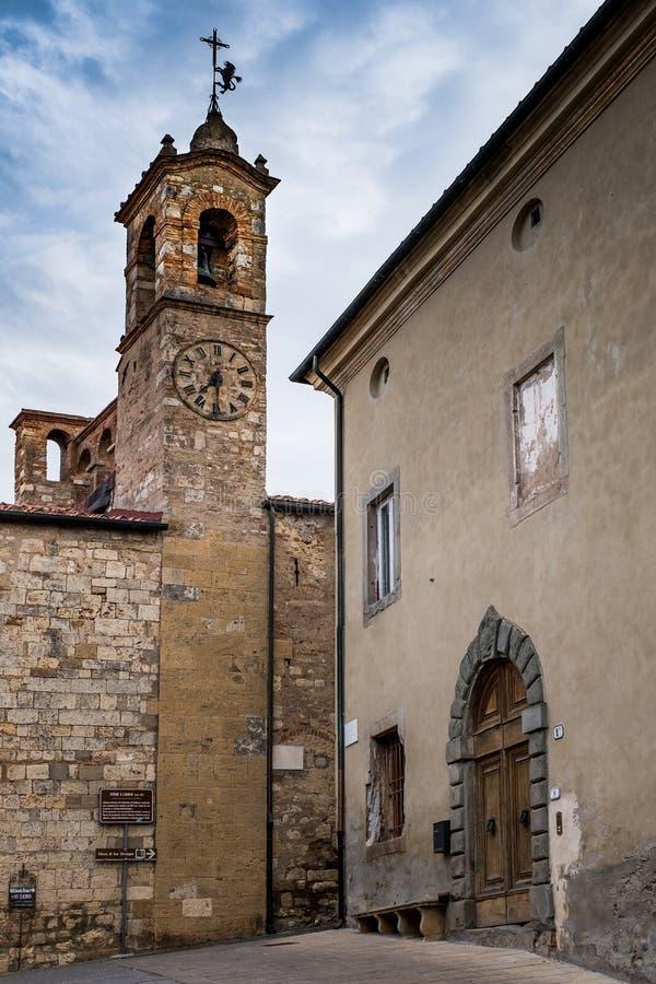 Bibbona en Val di Cecina, Livorno, Toscana, Italia - el pari fotografía de archivo