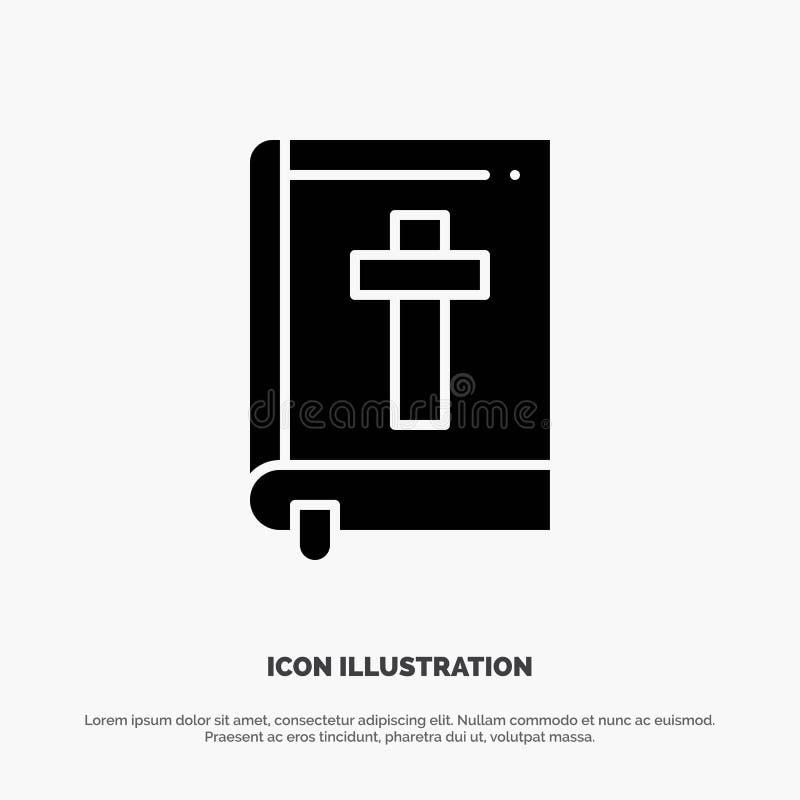Bibel, Buch, Ostern, Religion fester Glyph-Ikonenvektor vektor abbildung