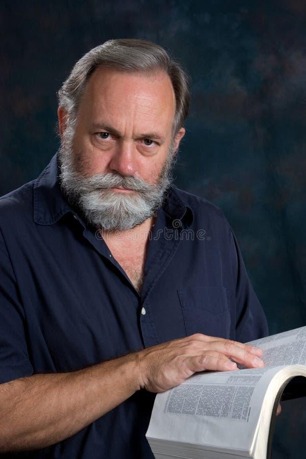 bibel hans man arkivfoto