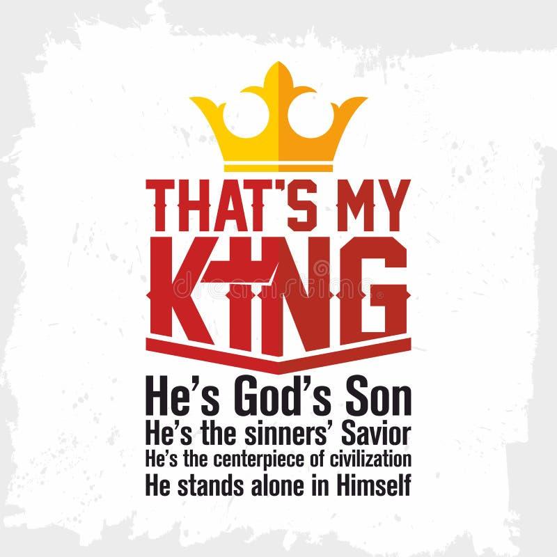 Bibelbokstäver Kristen konst Den ` s min konung jesus vektor illustrationer