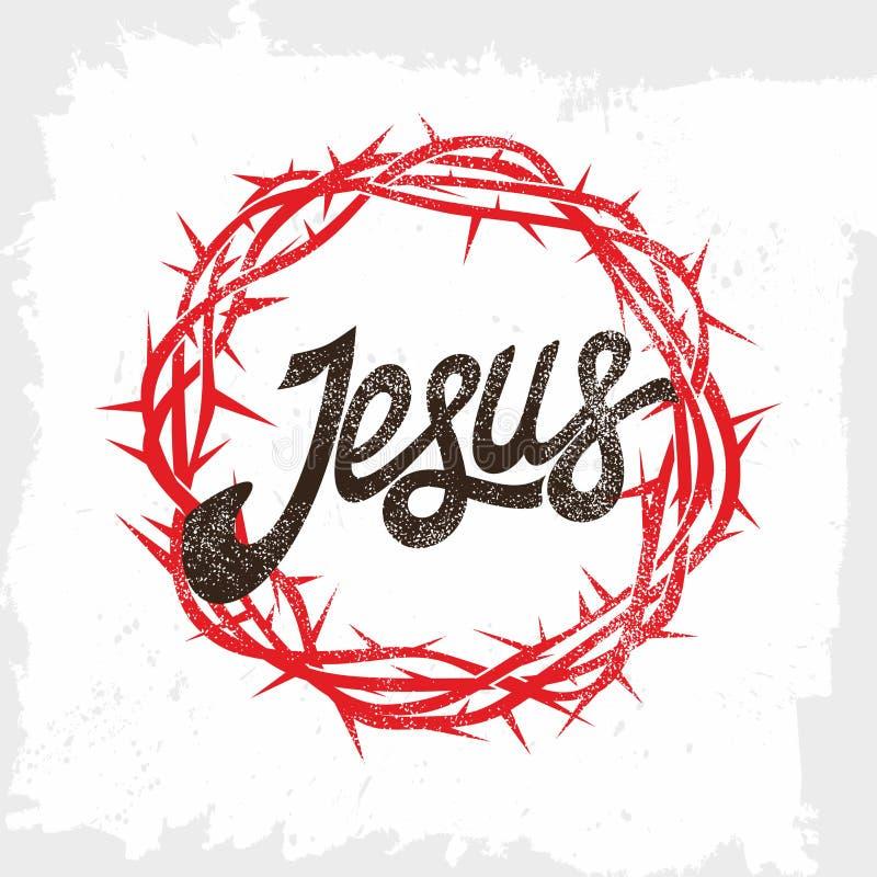 Bibelbokstäver Kristen konst värld för taggar för stjärna för hav andra för rov för polyps för planci för acanthasterkorallkrona  stock illustrationer
