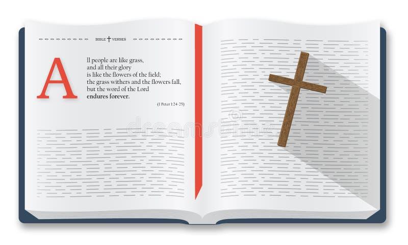 Bibelcitationstecken, bibelversillustration vektor illustrationer