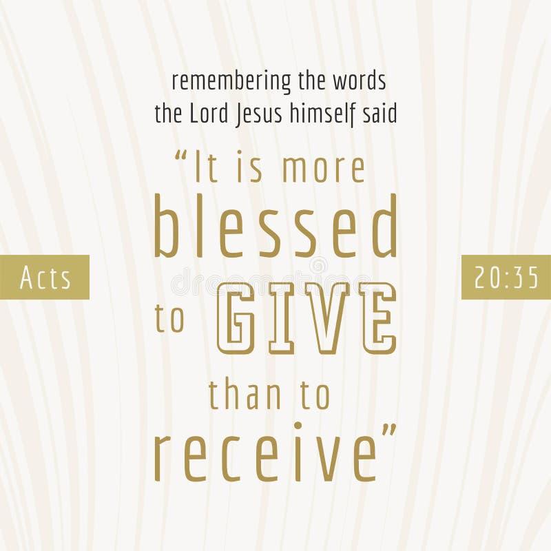 bibelcitationstecken för tryck eller bruk som affischen vektor illustrationer