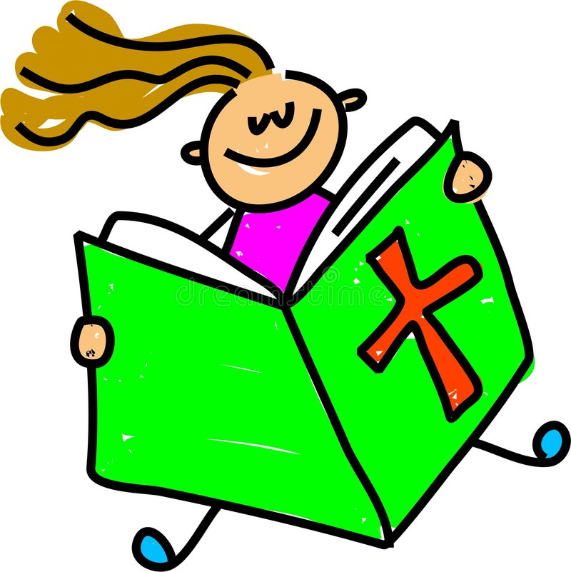 Bibelkind vektor abbildung