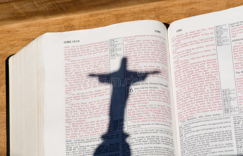 bibeln christ jesus letters röd skugga arkivbilder