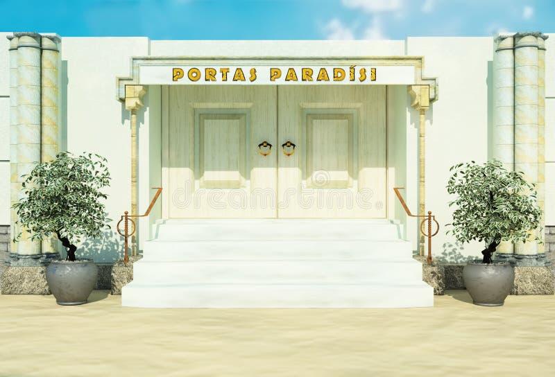 Bibelport i paradis royaltyfri bild