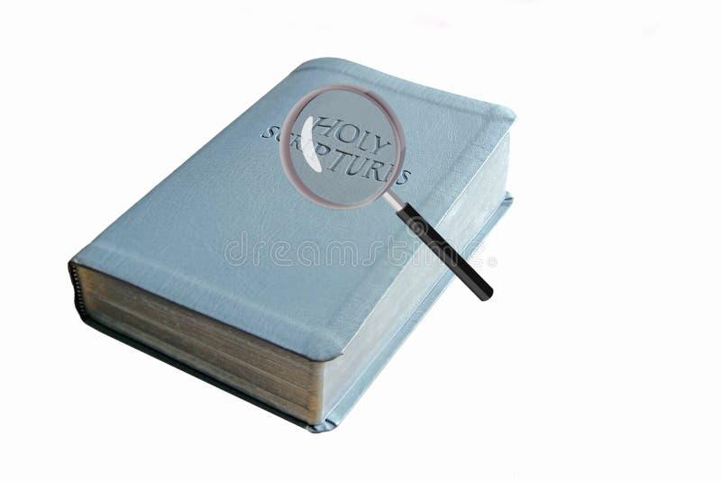 Bibelsökandet kontrollerar royaltyfria bilder