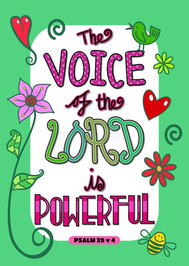 BibelSkriften Art Poster royaltyfri illustrationer