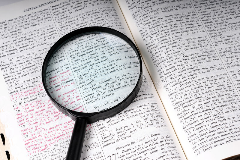 bibelstudy arkivbild