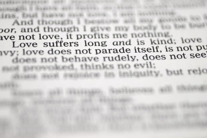 Bibeltext über die Liebe
