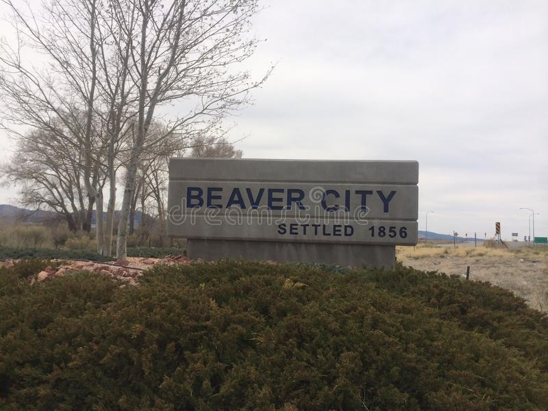 Biber-Stadt, Utah lizenzfreie stockfotos