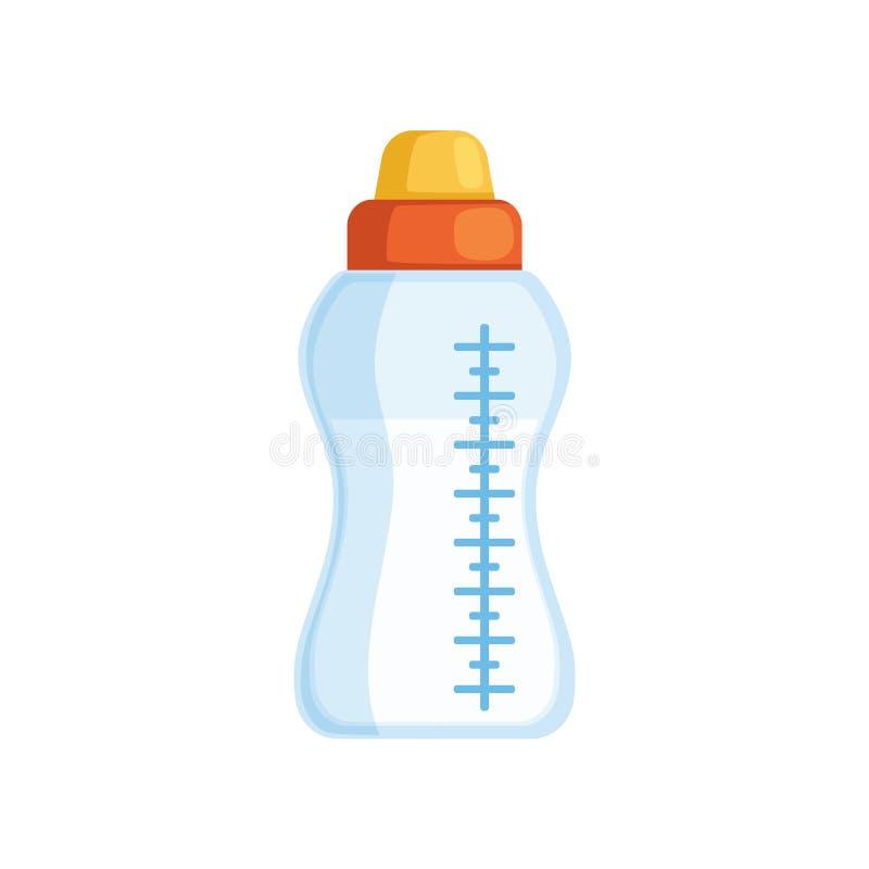 Biberon dell'illustrazione di vettore del latte su un fondo bianco illustrazione di stock