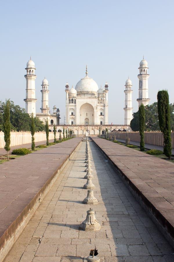 Bibi ka Maqbara i Aurangabad, Indien arkivfoto