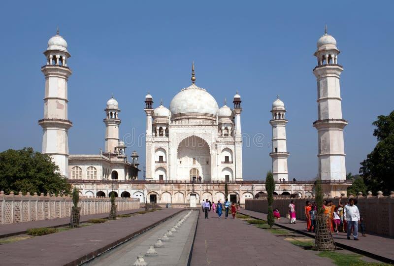 Bibi Ka Maqbara-Mausoleum in Aurangabad, Indien stockbilder