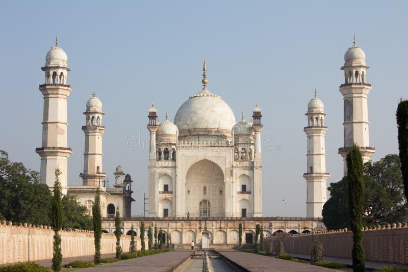 Bibi ka Maqbara som lokaliseras i Aurangabad, Indien arkivfoto